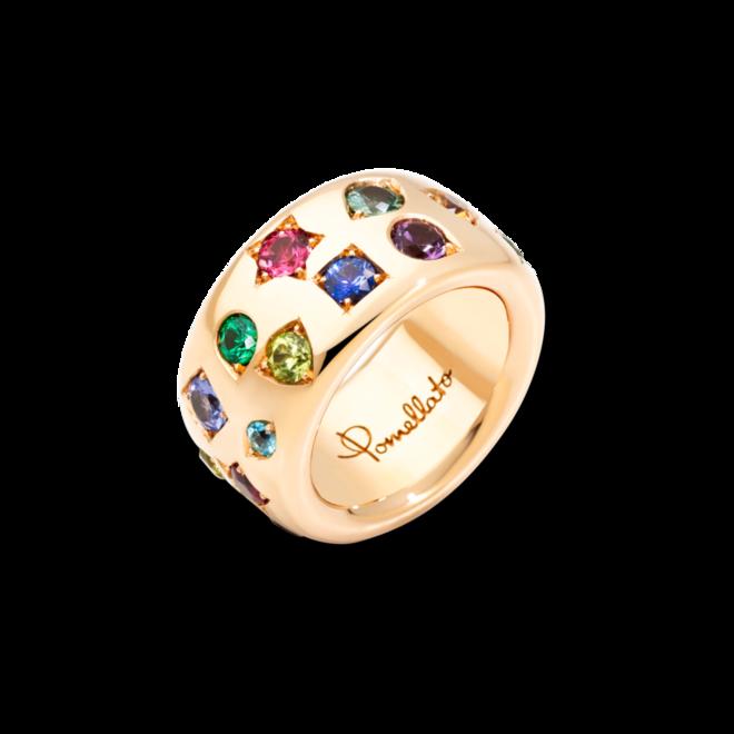 Ring Pomellato Iconica aus 750 Roségold mit Tsavolith und mehreren Edelsteinen bei Brogle