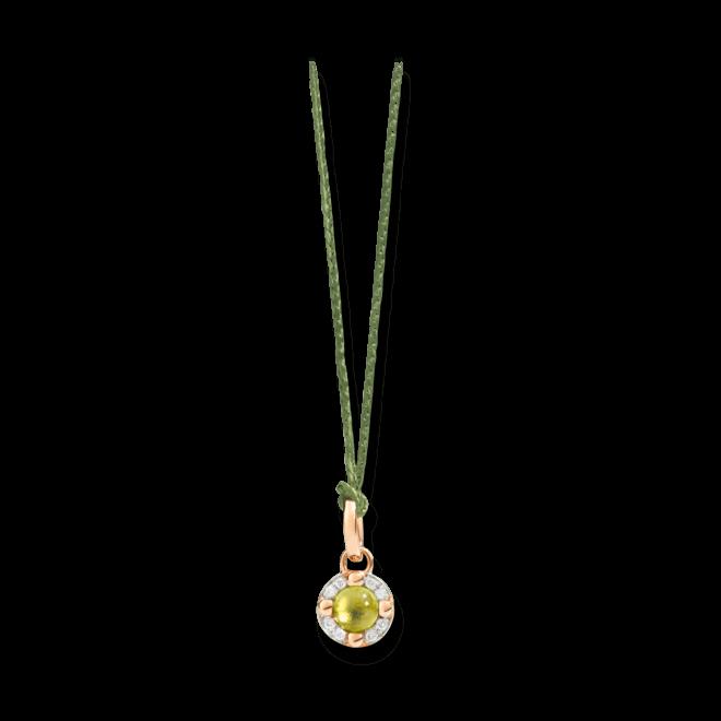Anhänger Pomellato M'ama non M'ama aus 750 Roségold mit 1 Peridot und 8 Diamanten (0,05 Karat) bei Brogle