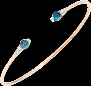 Armreif Pomellato M'ama non M'ama aus 750 Roségold mit 2 London Topasen und 6 Diamanten (0,08 Karat) Größe S