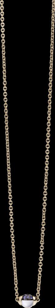 Halskette mit Anhänger Pomellato M'ama non M'ama aus 750 Roségold mit Edelsteinen