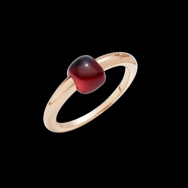 Ring Pomellato M´ama non M´ama aus 750 Roségold mit 1 Granat