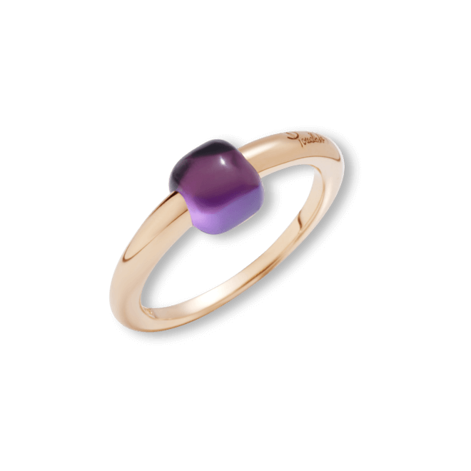 Ring Pomellato M´ama non M´ama aus 750 Roségold mit 1 Amethyst