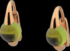 Ohrring Pomellato M'ama non M'ama aus 750 Roségold mit 2 Peridoten