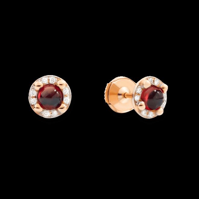 Ohrstecker Pomellato M'ama non M'ama aus 750 Roségold mit 2 Granaten und 16 Diamanten (2 x 0,045 Karat) bei Brogle