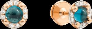 Ohrstecker Pomellato M'ama non M'ama aus 750 Roségold mit 2 London Topasen und 16 Diamanten (2 x 0,045 Karat)