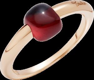 Ring Pomellato M'ama non M'ama aus 750 Roségold mit 1 Granat