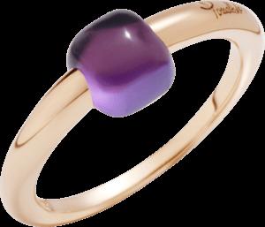 Ring Pomellato M'ama non M'ama aus 750 Roségold mit 1 Amethyst