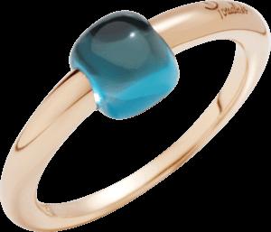 Ring Pomellato M'ama non M'ama aus 750 Roségold mit 1 Topas