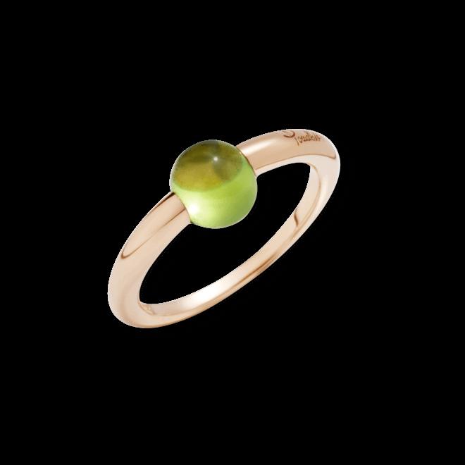 Ring Pomellato M'ama non M'ama aus 750 Roségold mit 1 Peridot