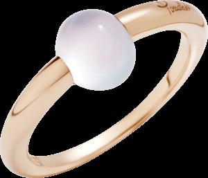 Ring Pomellato M'ama non M'ama aus 750 Roségold mit 1 Mondstein