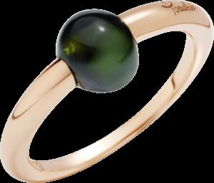 Ring Pomellato M'ama non M'ama aus 750 Roségold mit 1 Turmalin