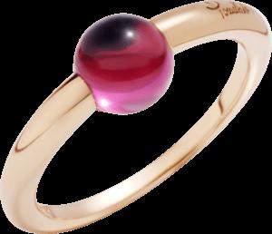 Ring Pomellato M'ama non M'ama aus 750 Roségold mit 1 Rhodolit
