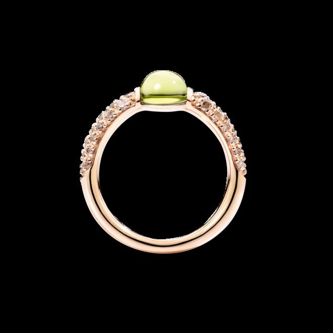 Ring Pomellato M'ama non M'ama aus 750 Roségold mit 1 Peridot und mehreren Brillanten (0,36 Karat) bei Brogle