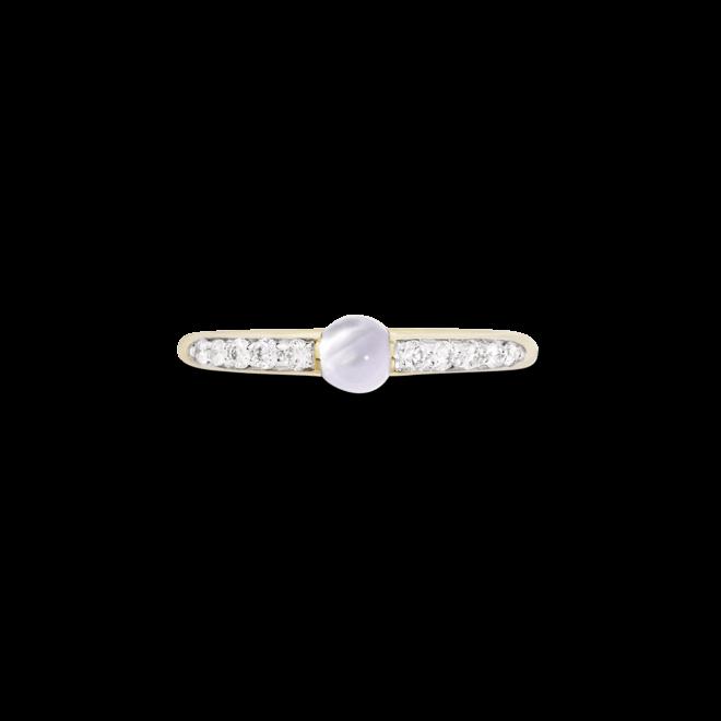 Ring Pomellato M'ama non M'ama aus 750 Roségold mit 1 Adular und 10 Brillanten (0,19 Karat) bei Brogle