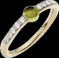 Ring Pomellato M'ama non M'ama aus 750 Roségold mit 1 Peridot und 10 Brillanten (0,19 Karat)