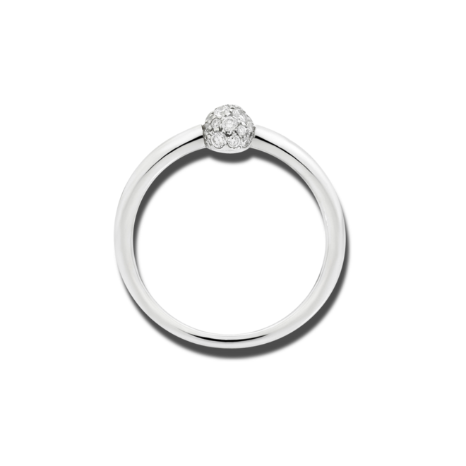 Ring Pomellato M'ama non M'ama aus 750 Weißgold mit 19 Diamanten (0,15 Karat) bei Brogle