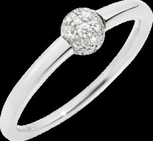 Ring Pomellato M'ama non M'ama aus 750 Weißgold mit 19 Diamanten (0,15 Karat)