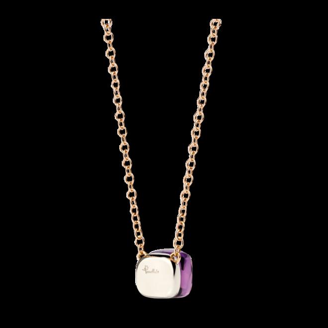 Halskette mit Anhänger Pomellato Nudo Amethyst aus 750 Roségold und 750 Weißgold mit 1 Amethyst bei Brogle