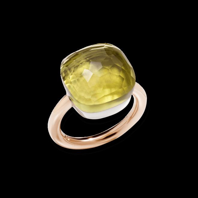 Ring Pomellato Nudo Assoluto Zitronenquarz aus 750 Roségold und 750 Weißgold mit 1 Zitronenquarz