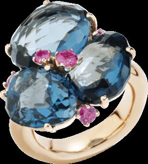 Ring Pomellato Bahia aus 750 Roségold mit mehreren Edelsteinen