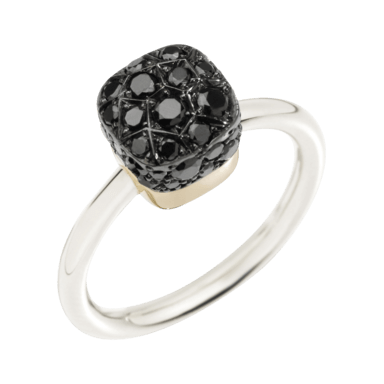 Pomellato Ring Nudo Black Diamonds A.B501/O6/BB