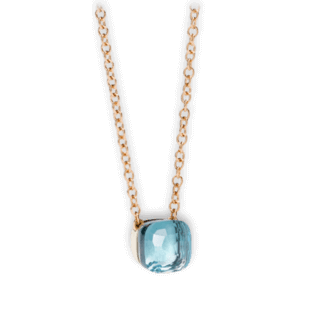 Pomellato Halskette mit Anhänger Nudo Blautopas F.B601/O6/OY