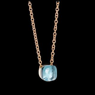 Pomellato Halskette mit Anhänger Nudo Blautopas PCB6010-O6000-000OY-42