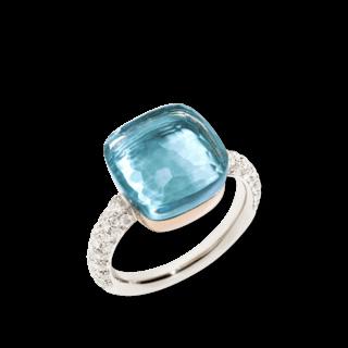 Pomellato Ring Nudo Blautopas mit Brillanten PAB4010-O6000-DB0OY
