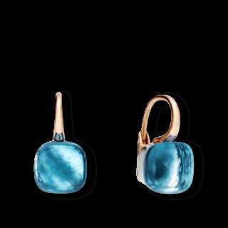 Pomellato Ohrring Nudo Blautopas O.A107/O6/OY