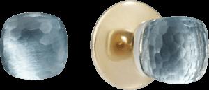 Ohrstecker Pomellato Nudo Blautopas aus 750 Roségold und 750 Weißgold mit 2 Blautopasen