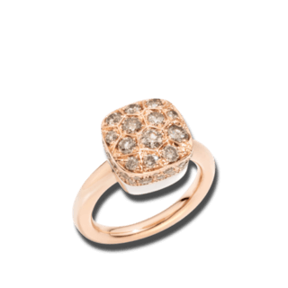 Pomellato Ring Nudo Brown Diamonds A.B704GO6/BR