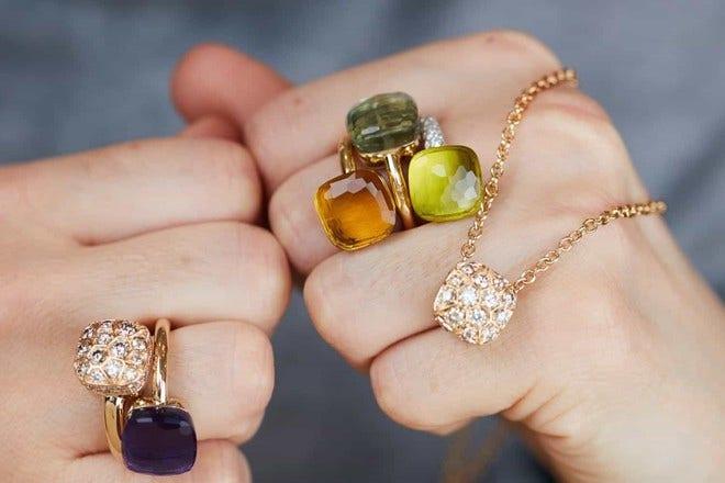 Ring Pomellato Nudo Classic Amethyst aus 750 Roségold und 750 Weißgold mit 1 Amethyst bei Brogle