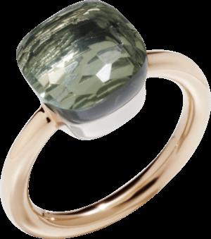 Ring Pomellato Nudo Classic Prasiolith aus 750 Roségold und 750 Weißgold mit 1 Prasiolith