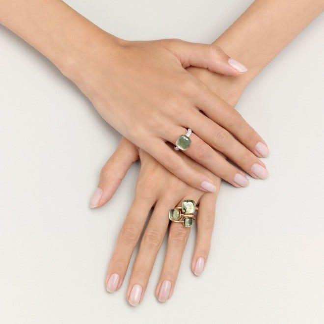 Ring Pomellato Nudo Classic Prasiolith aus 750 Roségold und 750 Weißgold mit 1 Prasiolith bei Brogle