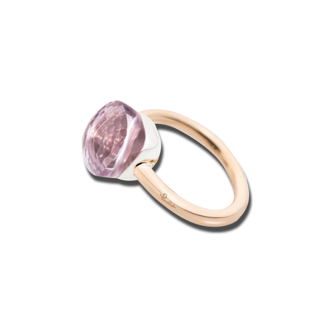 Ring Pomellato Nudo Classic Rose de France Amethyst aus 750 Roségold und 750 Weißgold mit 1 Amethyst