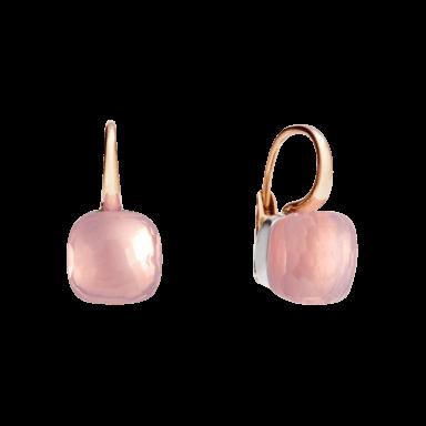 Pomellato Ohrring Nudo Classic Rosenquarz O.A107/O6/QR