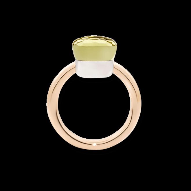 Ring Pomellato Nudo Classic Zitronenquarz aus 750 Roségold und 750 Weißgold mit 1 Zitronenquarz bei Brogle