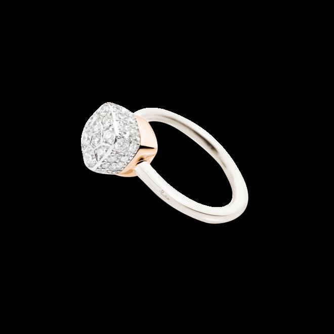 Ring Pomellato Nudo Diamonds aus 750 Weißgold und 750 Roségold mit mehreren Brillanten (0,84 Karat)
