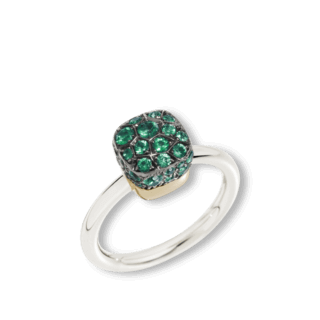 Pomellato Ring Nudo Emeralds A.B501/O6/SM