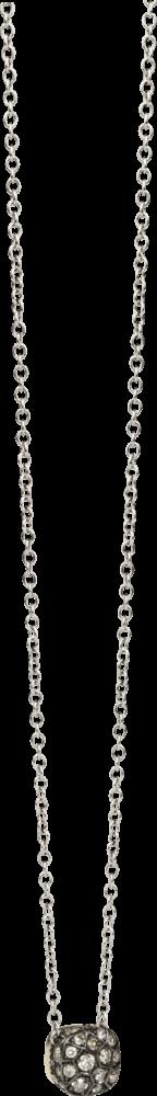 Halskette mit Anhänger Pomellato Nudo aus 750 Roségold und 750 Weißgold mit mehreren Brillanten (0,84 Karat)