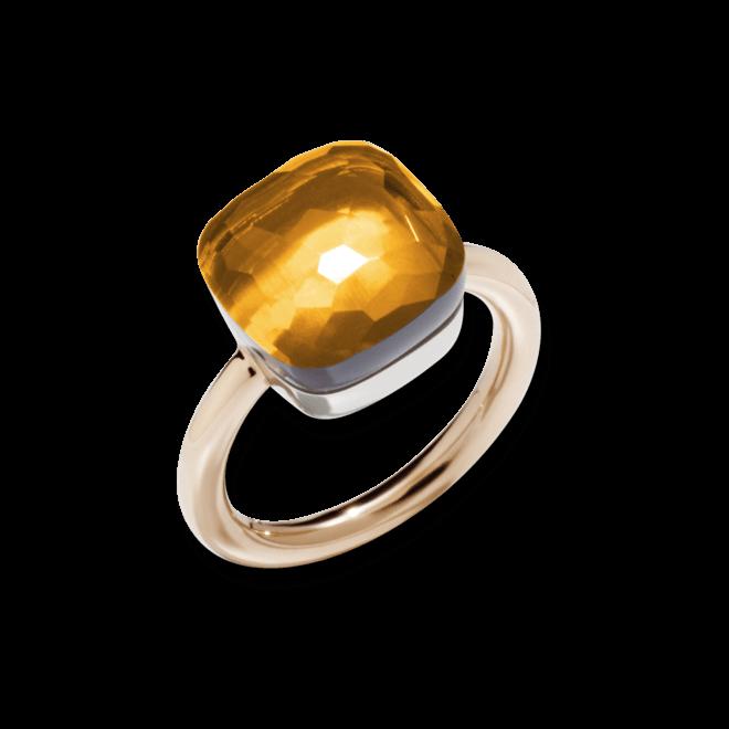 Ring Pomellato Nudo Maxi Citrin aus 750 Roségold und 750 Weißgold mit 1 Citrin