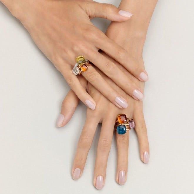 Ring Pomellato Nudo Maxi London Topas aus 750 Roségold und 750 Weißgold mit 1 London Topas bei Brogle
