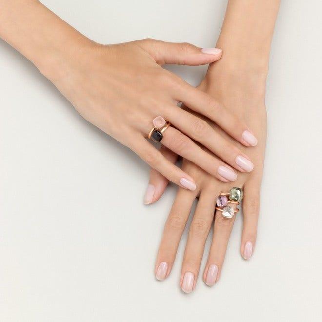 Ring Pomellato Nudo Maxi Prasiolith aus 750 Roségold und 750 Weißgold mit 1 Prasiolith bei Brogle