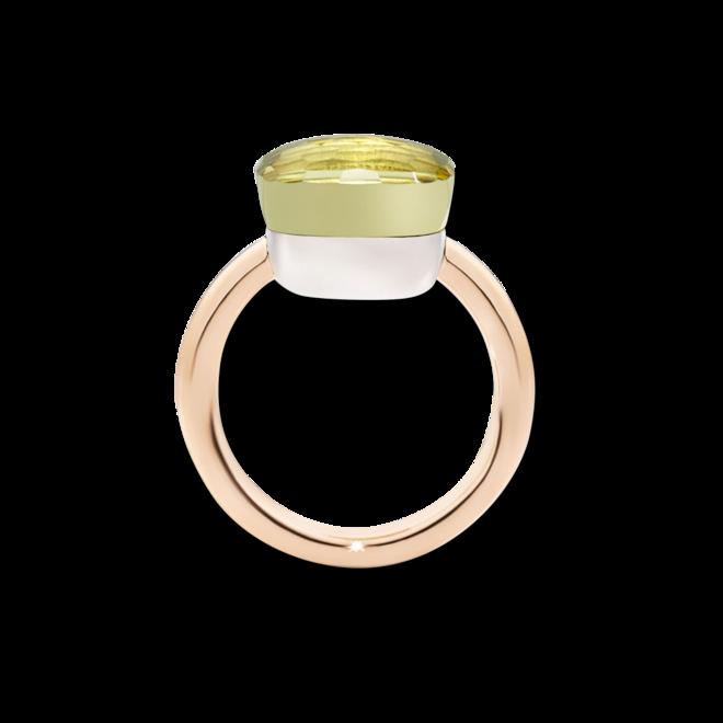 Ring Pomellato Nudo Maxi Zitronenquarz aus 750 Roségold und 750 Weißgold mit 1 Zitronenquarz bei Brogle