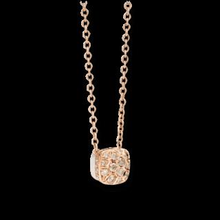 Pomellato Halskette mit Anhänger Nudo mit braunen Brillanten F.B704GO6/BR