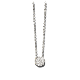 Pomellato Halskette mit Anhänger Nudo mit Brillanten PCB6012-O6000-DB000-42
