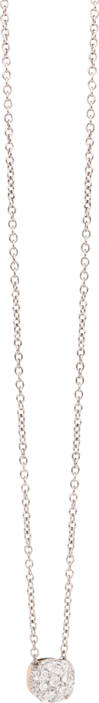 Halskette mit Anhänger Pomellato Nudo mit Brillanten aus 750 Roségold und 750 Weißgold mit mehreren Brillanten (0,84 Karat)