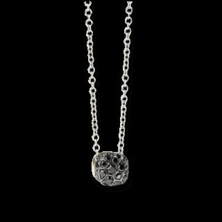 Pomellato Halskette mit Anhänger Nudo mit schwarzen Brillanten F.B601/O6/BB