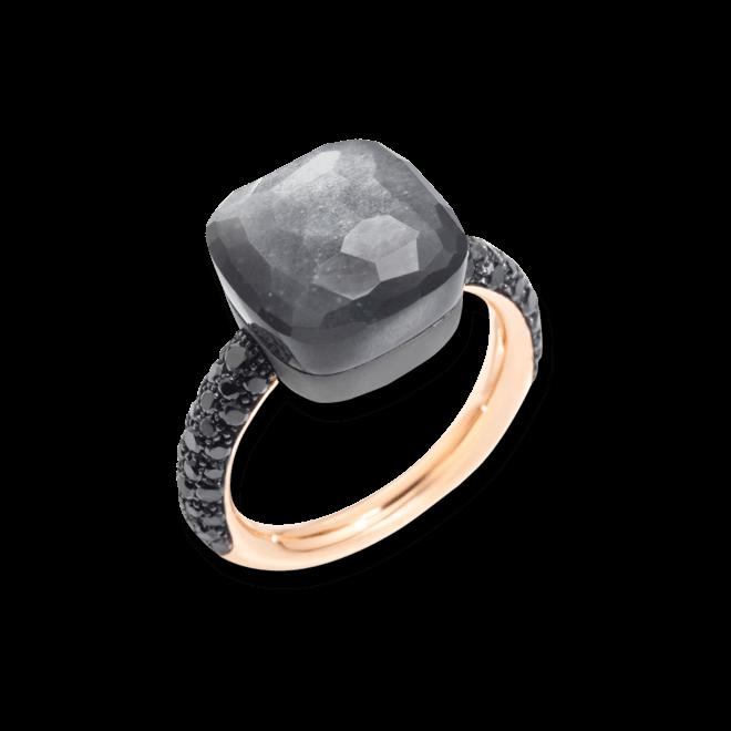 Ring Pomellato Nudo Mondstein mit Brillanten aus 750 Roségold und Titan mit 1 Mondstein und 58 Brillanten (0,77 Karat) bei Brogle