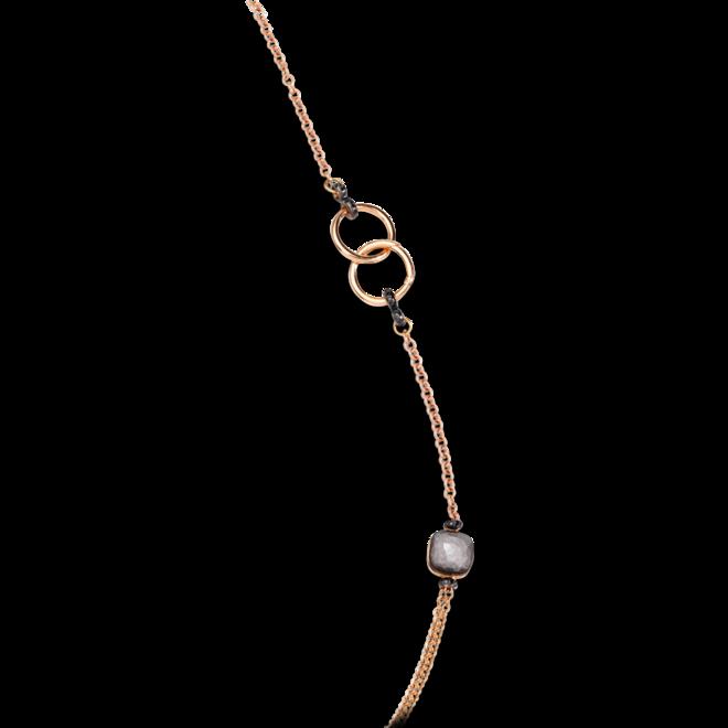 Halskette Pomellato Nudo Obsidian aus 750 Roségold und 750 Weißgold mit 7 Obsidianen und 182 Diamanten (2 Karat) bei Brogle